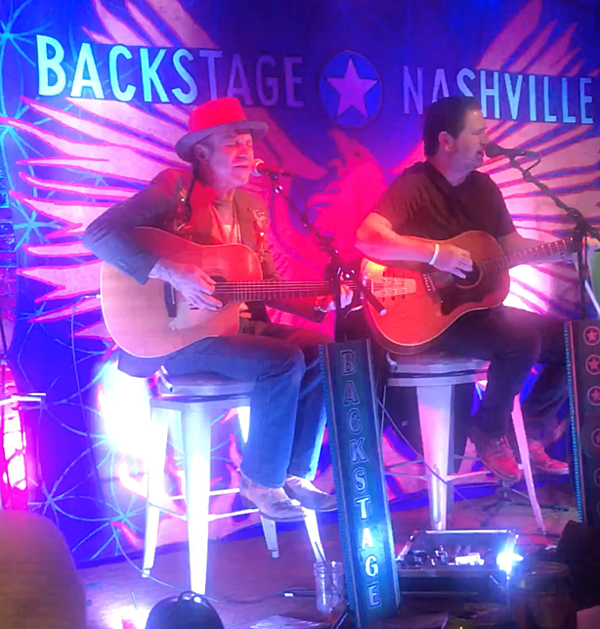 Backstage Nashville singer songwriters perform for us