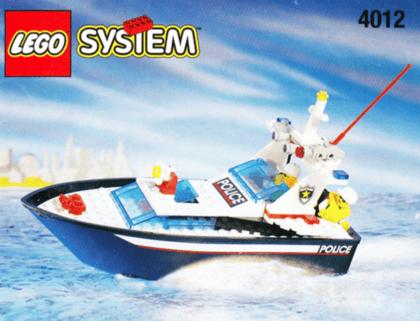 Lego police boat box cover