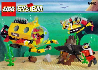 Lego underwater scene box cover